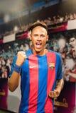 Диаграмма воска Neymar бразильского футболиста младшая на музее Мадам Tussauds стоковое изображение