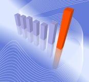 диаграмма в виде вертикальных полос самомоднейшая Стоковое Изображение