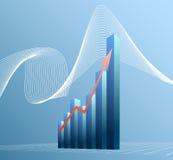 диаграмма в виде вертикальных полос самомоднейшая Стоковая Фотография RF