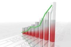 диаграмма в виде вертикальных полос 2 Стоковые Фотографии RF
