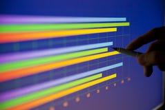 диаграмма в виде вертикальных полос Стоковые Фотографии RF