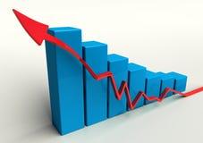 диаграмма в виде вертикальных полос 3d Стоковая Фотография