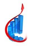 диаграмма в виде вертикальных полос 3d Стоковые Фото