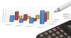 Диаграмма в виде вертикальных полос продаж Стоковая Фотография RF