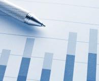 Диаграмма в виде вертикальных полос с ручкой Стоковые Изображения