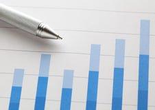 Диаграмма в виде вертикальных полос с ручкой Стоковое Изображение RF