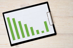 Диаграмма в виде вертикальных полос тенденции подъема падения Стоковые Фотографии RF