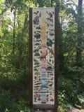 Диаграмма в парке штата динозавра и дендропарке, скалистом холме, Коннектикуте Стоковые Изображения RF