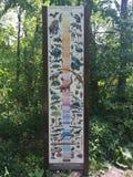Диаграмма в парке штата динозавра и дендропарке, скалистом холме, Коннектикуте Стоковые Фото