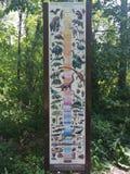 Диаграмма в парке штата динозавра и дендропарке, скалистом холме, Коннектикуте Стоковые Изображения