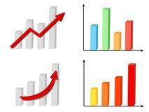диаграмма габаритные 3 Стоковые Изображения RF