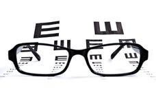 Диаграмма глаза с стеклами Стоковое Изображение RF