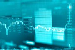 Диаграмма дела и монитор торговлей вклада в торговой операции золота Стоковые Фотографии RF