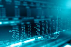 Диаграмма дела и монитор торговлей вклада в cryptocurrency Стоковое фото RF