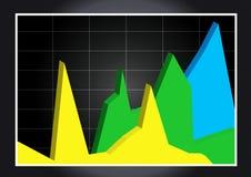 диаграмма дела 3d стоковые фото
