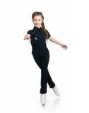 диаграмма детеныш девушки катаясь на коньках Стоковая Фотография