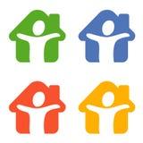 диаграмма дом Стоковое Изображение RF