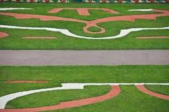 Диаграмма декоративные лужайка и дорожки травы Стоковое Изображение