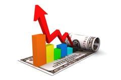 Диаграмма денег Стоковые Изображения