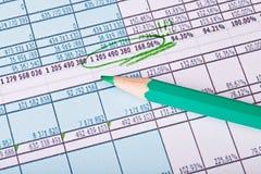 Диаграмма дела показывая успех на финансовом рынке. Gree Стоковая Фотография RF