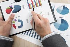 Диаграмма дела показывая финансовый успех Стоковая Фотография RF