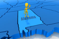 диаграмма желтый цвет Алабамы ручки положения плана Стоковое фото RF
