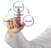 Диаграмма жизненного цикла клиента Стоковые Фотографии RF
