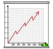 Диаграмма заработков стоковое изображение rf