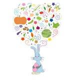 Диаграмма заяц мечтая еды Стоковое Фото