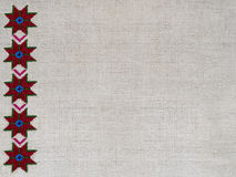 Диаграмма звезда орнамента вышивки холста пеньки Стоковое Изображение