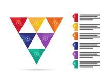 Диаграмма диаграммы красочного представления радуги спектра геометрического триангулярного infographic Шаблон векторной графики Стоковая Фотография RF