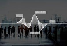 Диаграмма изображает диаграммой концепцию данным по запаса статистик информации стоковое фото rf