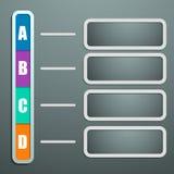 Диаграмма информации в бумажном стиле с тенями и шкафами f Стоковые Изображения
