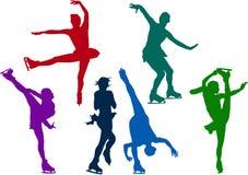 диаграмма кататься на коньках девушок Стоковые Фотографии RF