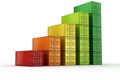 Диаграмма контейнера для перевозок иллюстрация вектора