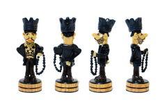 Диаграмма король шахмат в форме пленника от различных сторон Стоковое Фото