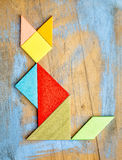 Диаграмма кота - конспект tangram Стоковое Фото