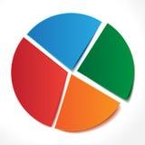 Диаграмма красных, голубых, оранжевых, зеленых стикеров Стоковое Изображение