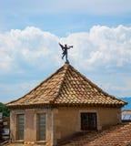 Диаграмма крыши на площади de Catedral в Хероне стоковая фотография rf