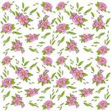 диаграмма малое смычков букетов картины цветка безшовное Цветения вишни Изображение вектора на белой предпосылке Элемент тканей,  Стоковое фото RF