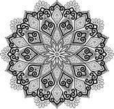 Диаграмма мандала для красить Стоковая Фотография RF