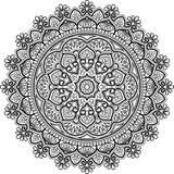Диаграмма мандала для красить Стоковые Фотографии RF