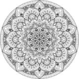 Диаграмма мандала для красить бесплатная иллюстрация