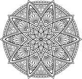 Диаграмма мандала для Стоковая Фотография RF