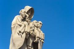 Диаграмма монаха скульптуры в Hirsau стоковые фотографии rf