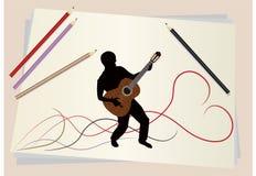 Диаграмма музыкант Иллюстрация штока