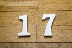 Диаграмма 17 на деревянном, пол партера Стоковые Фотографии RF