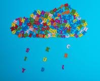 Диаграмма облака пестротканых деревянных писем Стоковое Изображение