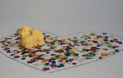 Диаграмма овечки в конфете в сердце Стоковое Фото