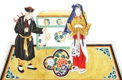 Диаграмма оперы Пекин стоковые фотографии rf